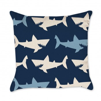 shark design pillow cover