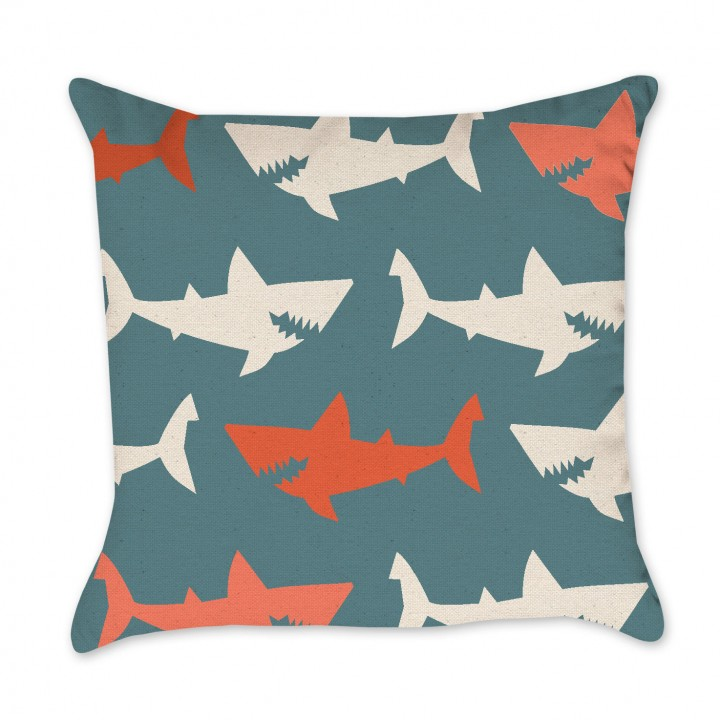 shark print pillow cover