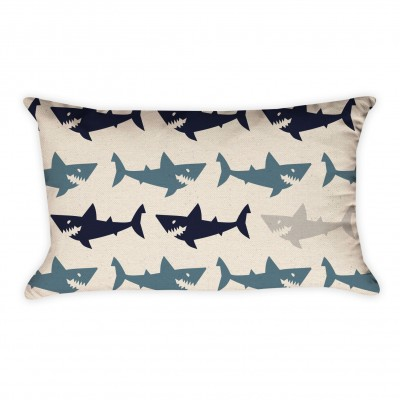 shark rectangle pillow