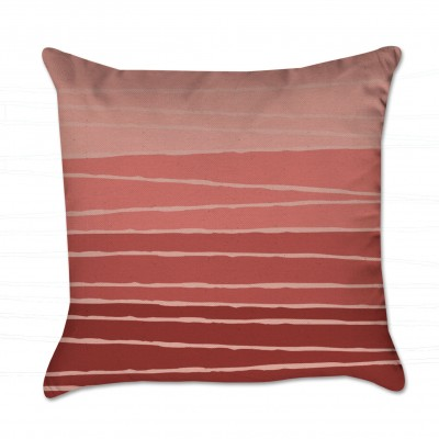 striped pillow cover orange