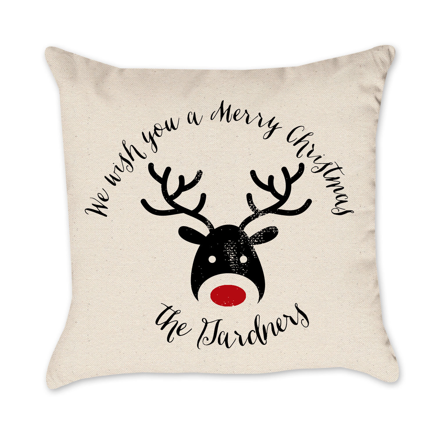 Wonderful Christmas Pillows Part - 14: We Wish You A Merry Xmas