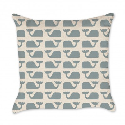 whales pillow cover