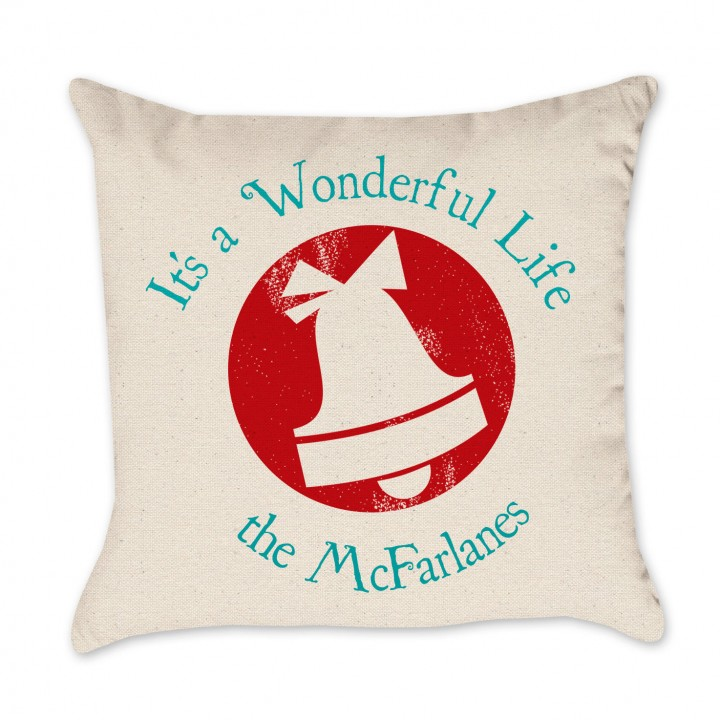 wonderful life pillow cover red