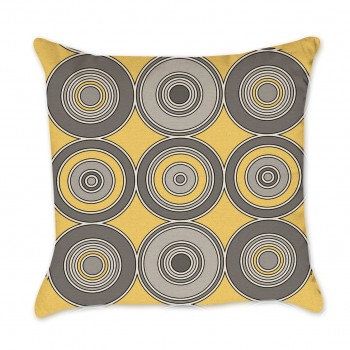 yellow mod pillow cover