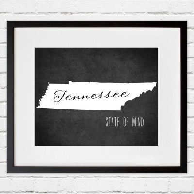Tennessee Print white