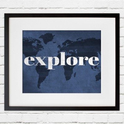 explore wall hanging