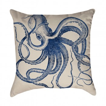 Blue Octopus Pillow Cover