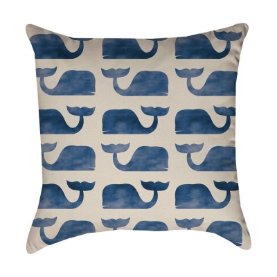 Blue Whale pattern Pillow Cover