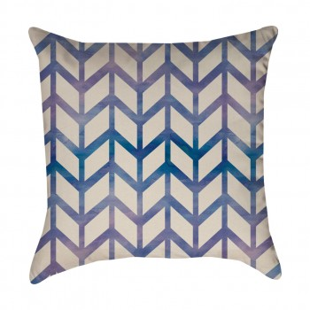 Blue Chevron Pattern Pillow  Cover