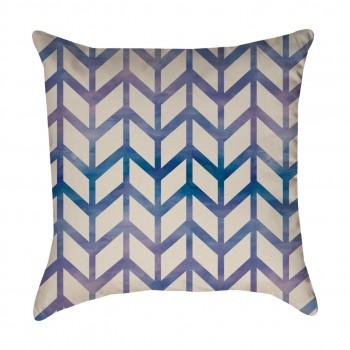 Blue Chevron Pattern Pillow  Cover