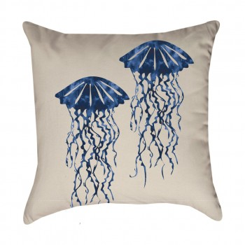 Blue Jellyfish Pillow Cover