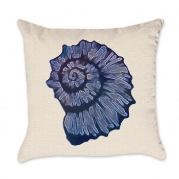 Blue Shell Pillow Cover