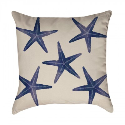 Blue starfish pattern pillow cover