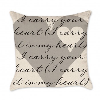 I Carry Your Hear Valentine Pillow Cover
