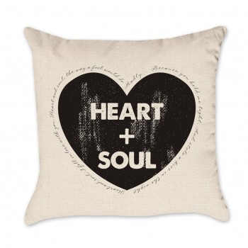 Heart and Soul Valentine Pillow Cover