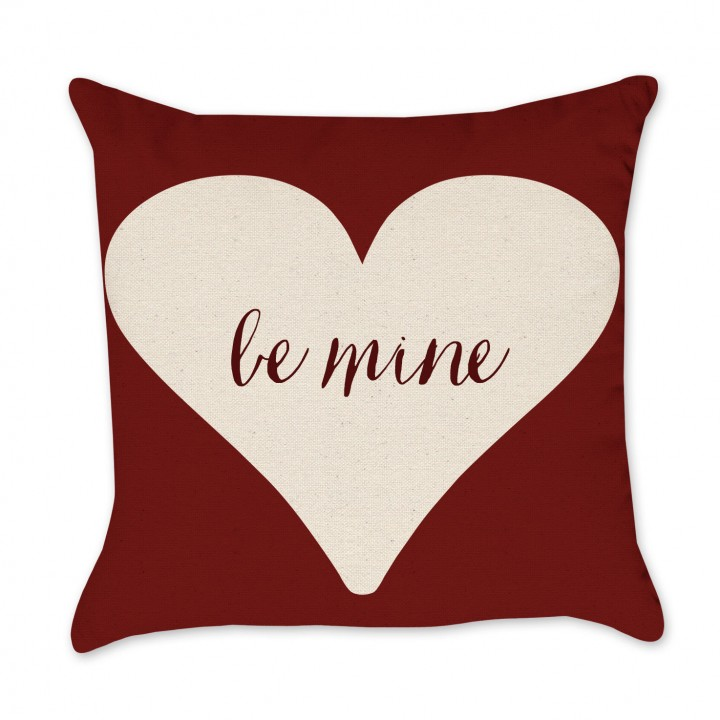 Be Mine Valentine Pillow Cover in red