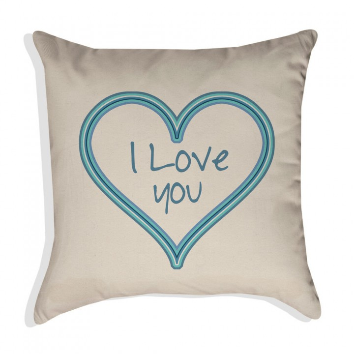 I LOVE YOU Valentine Pillow Cover