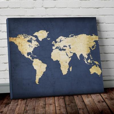 navy blue world map