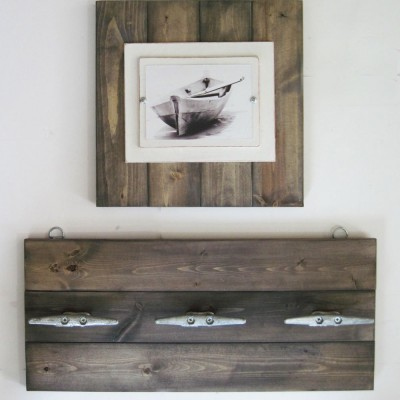 14x14 Plank Frame with Driftwood Stain with clea