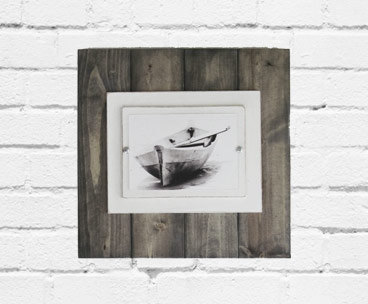 14×14 Plank Frame with Driftwood Stain