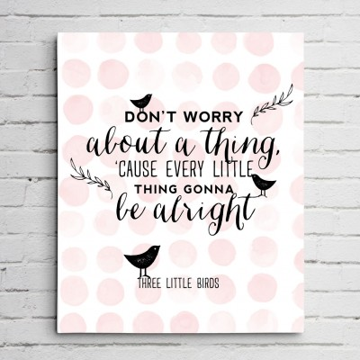 3 birds canvas print
