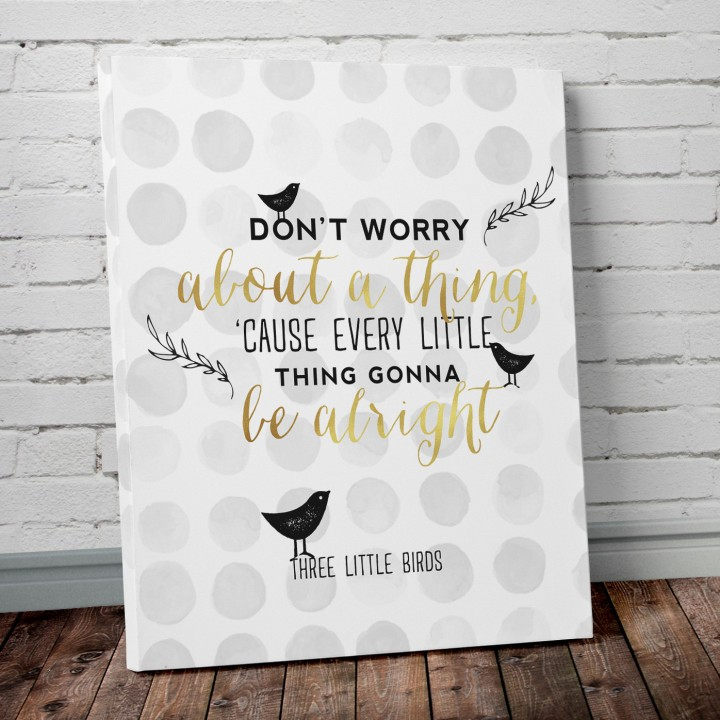 3 little birds print