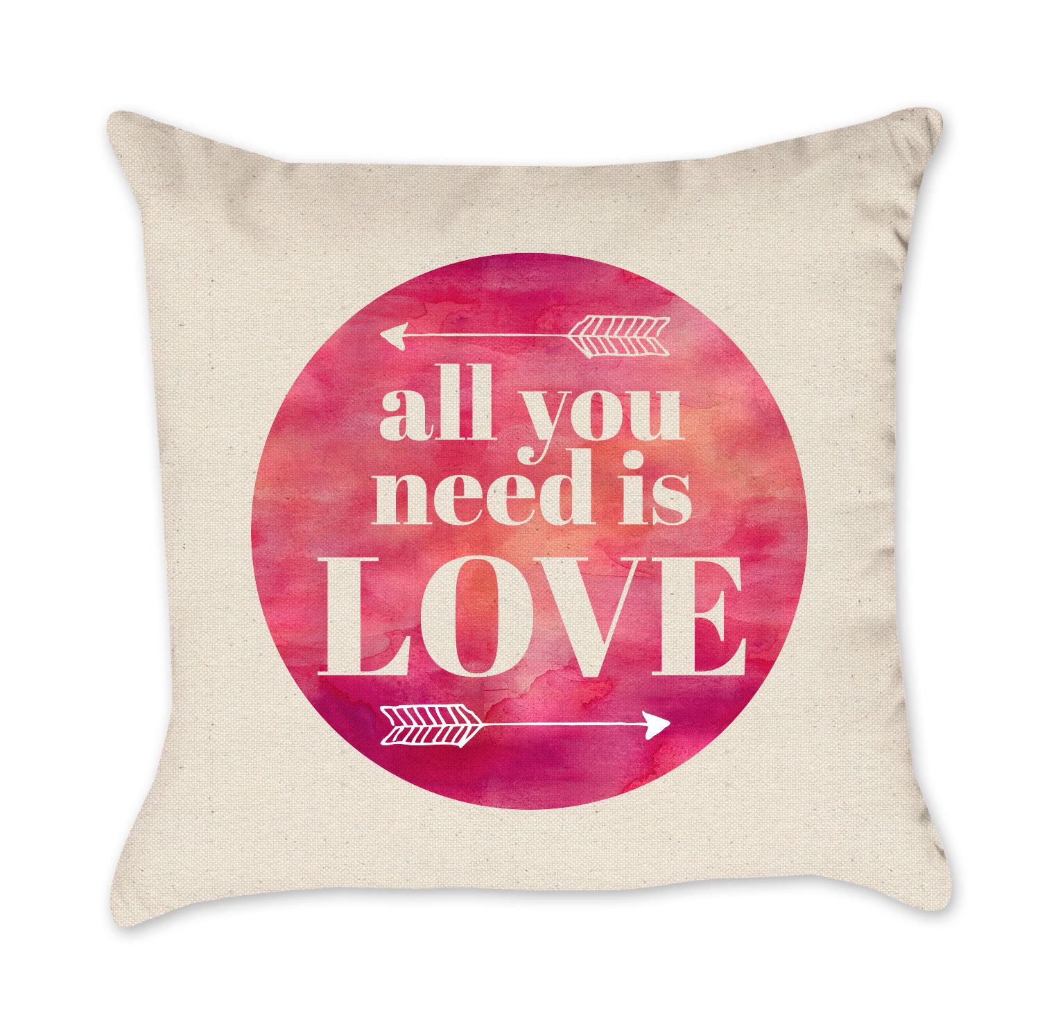 all you need is love valentine pillow cover