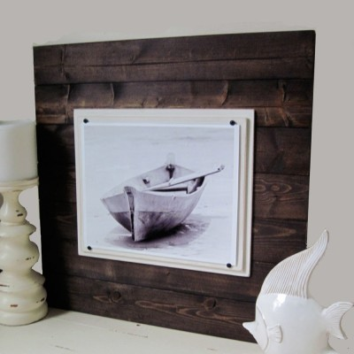 Big Dark Wood Plank Frame