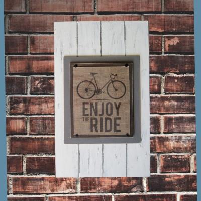 Burlap Bike Print