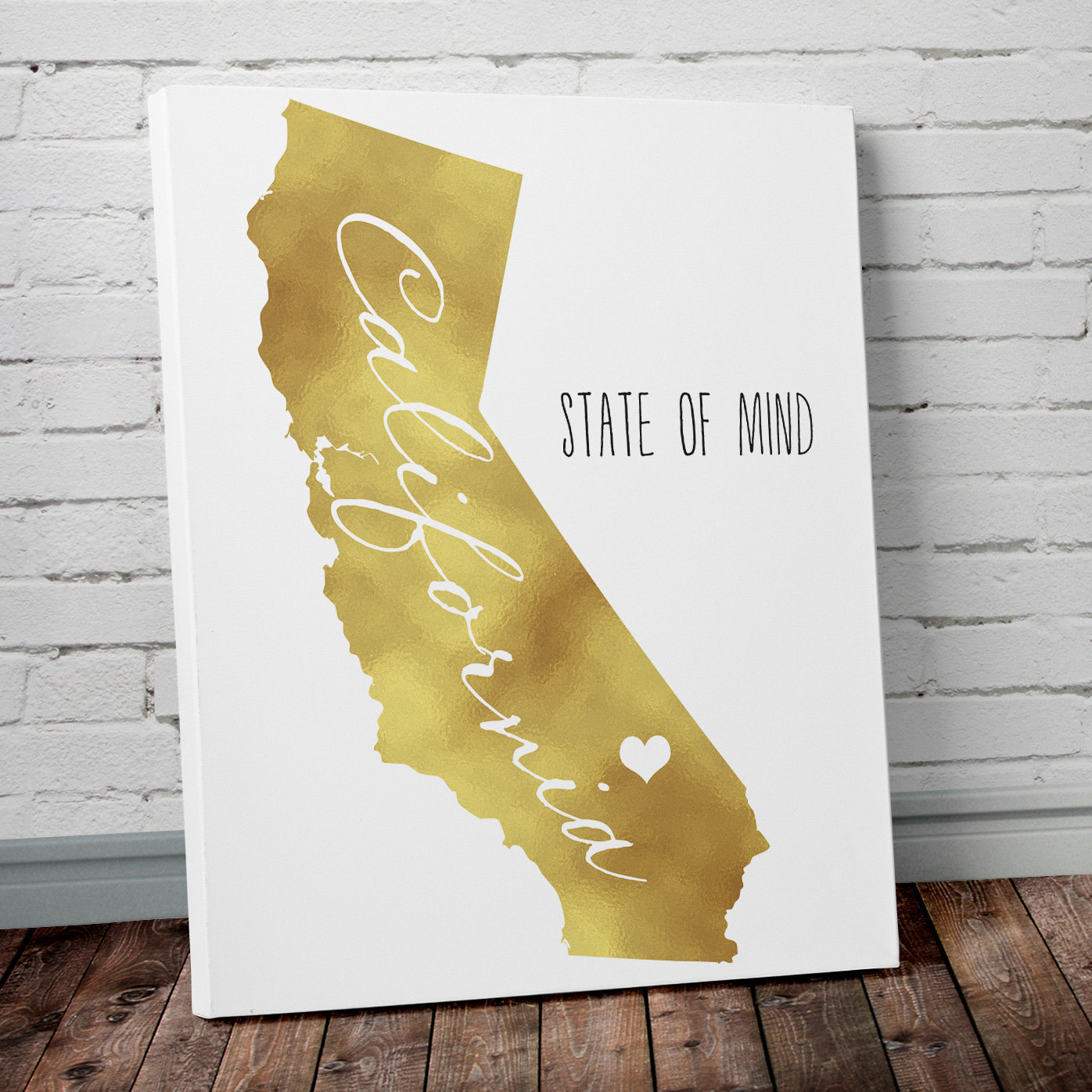 State Wall Art with Gold Foil- Project Cottage