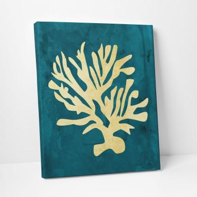 Gold Coral print