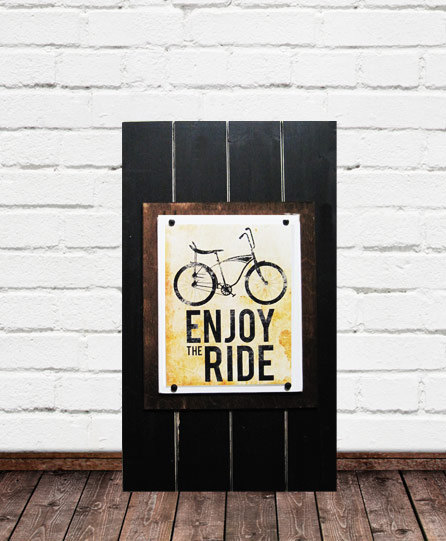 Large 14×24 Frame for 8×10 Bike Print