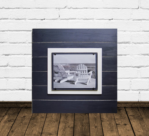 Navy Blue Distressed 8×10 Plank Frame 21X21