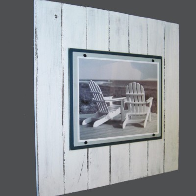 Plank Frame Distressed White