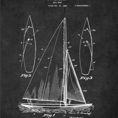 Sailboat Patent Print
