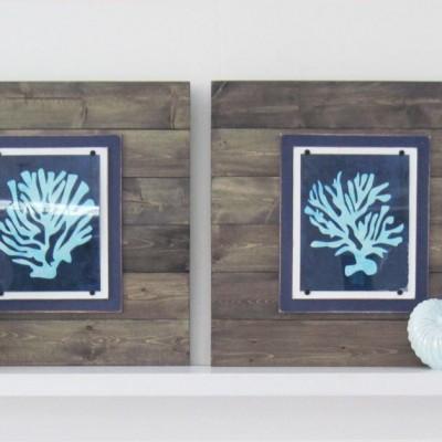 Set of 2 Driftwood Framed