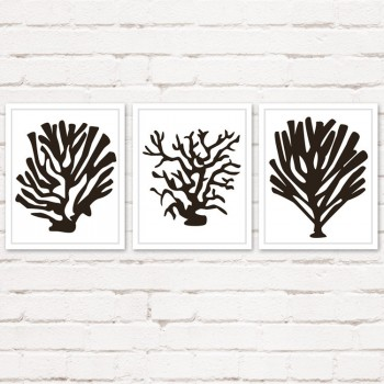 Set of 3 Coral Art Prints