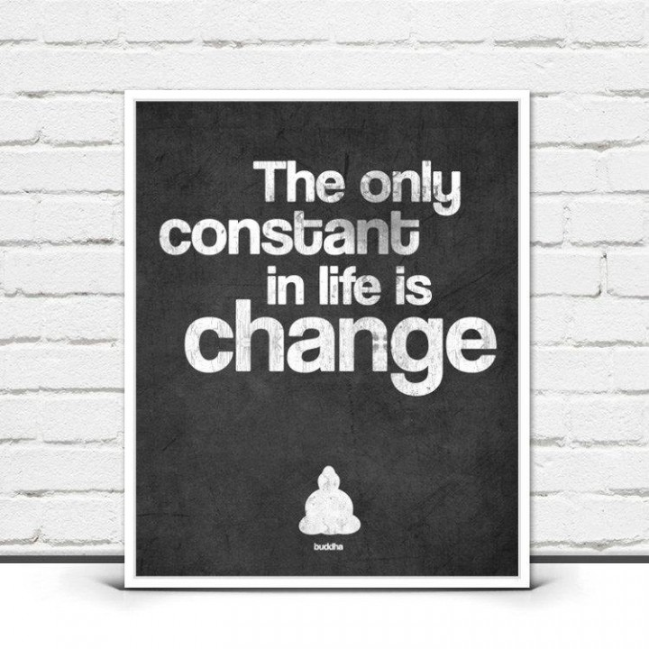 The Only Constant in Life is Change print