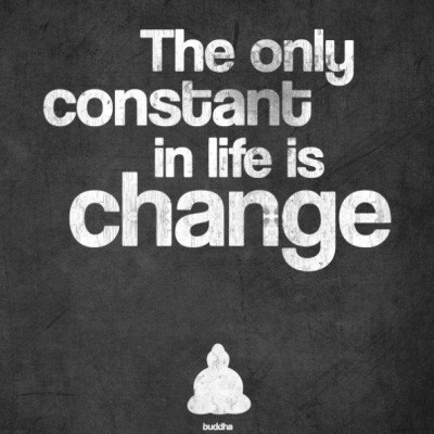 The Only Constant in Life is Change rt