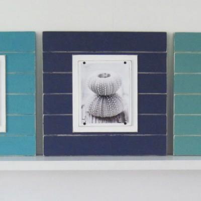 Turquoise, Aqua, Navy Blue frame set