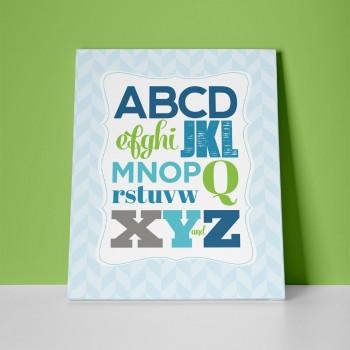 abcd nursery print
