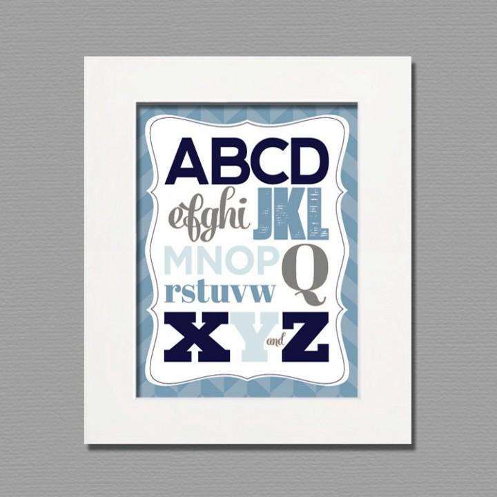abcd wall art