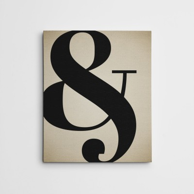 ampersand canvas wall art