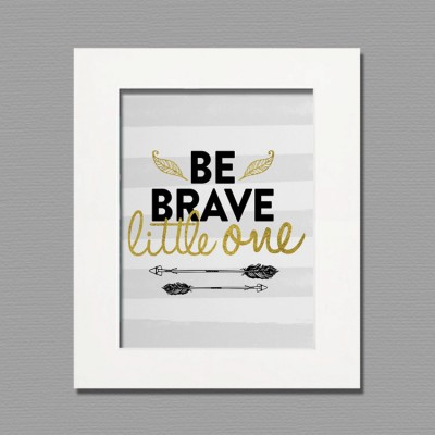 be brave framed white