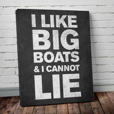 big boats art print