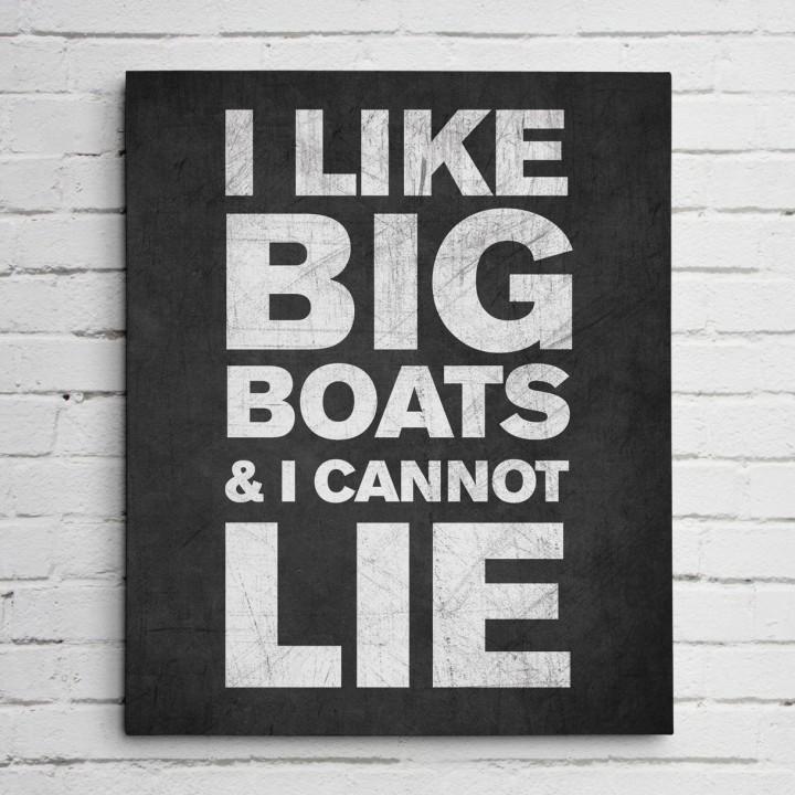 big boats black print