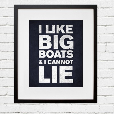 big boats wall art