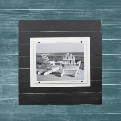 black plank frame