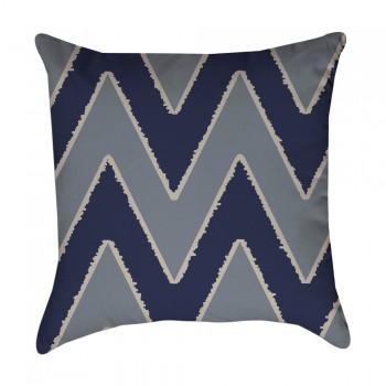 blue chevron pillow cover