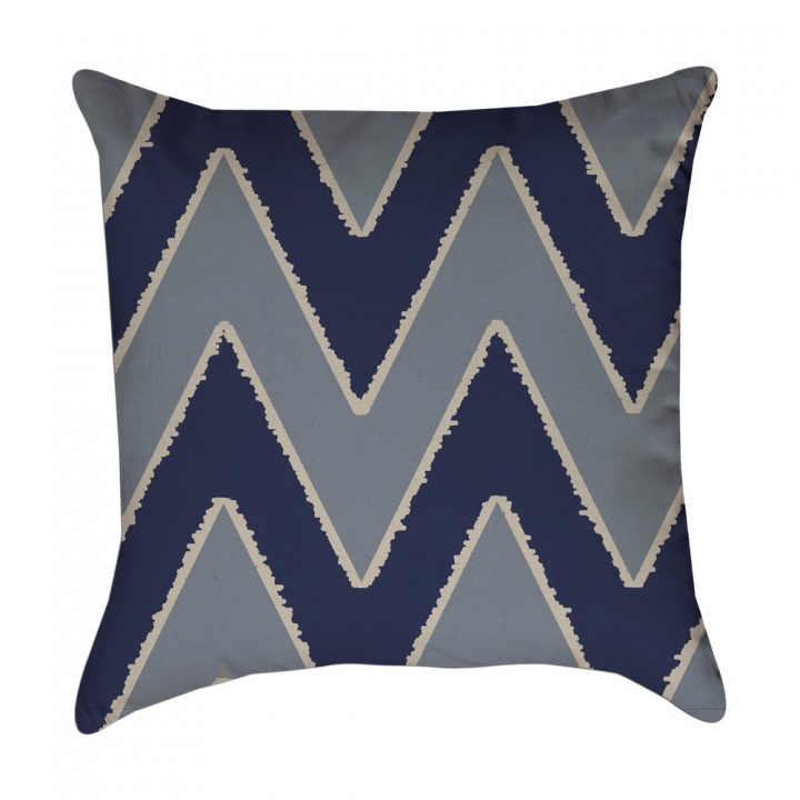 blue chevron pillow cover